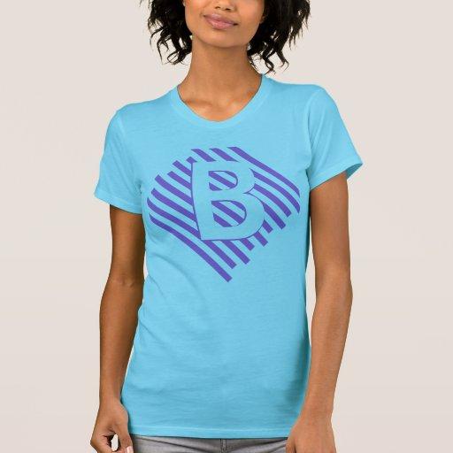 Angled Striped Letter Shirt. Customization