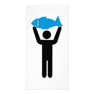 Angler blue fish photo greeting card