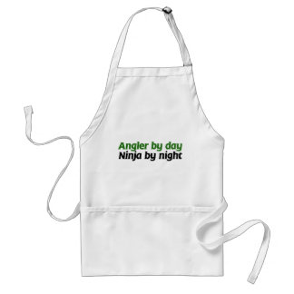 Angler by Day ninja by Night Adult Apron