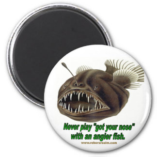 Angler Fish 2 Inch Round Magnet