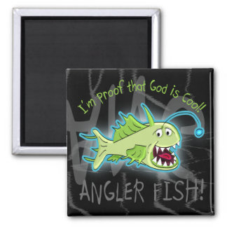Angler Fish 2 Inch Square Magnet