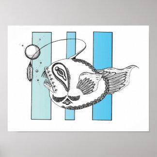 Angler fish poster
