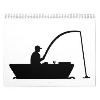 Angler Fisher boat Calendar