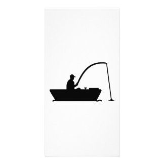 Angler Fisher boat Customized Photo Card