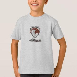 Angler, fishing rods. Fish. Logo Badge T-Shirt
