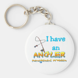 Angler Management Problem T-shirts and Gifts. Basic Round Button Keychain