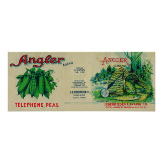 Angler Peas LabelChicago, IL Posters
