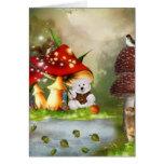 Angler teddy card