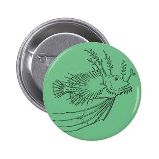 Anglerfish badge 2 inch round button