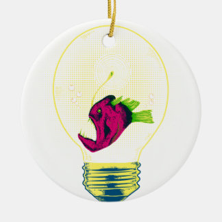 Anglerfish bulb ceramic ornament