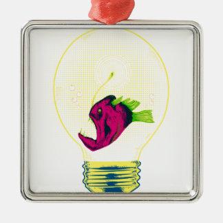 Anglerfish bulb metal ornament