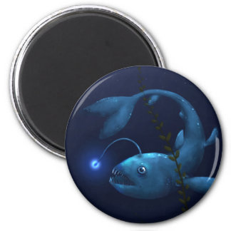 Anglerfish in the Undergrowth 2 Inch Round Magnet