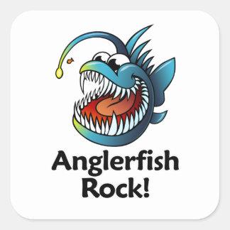 Anglerfish Rock! Square Sticker