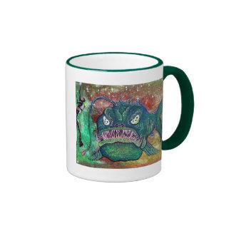 Anglerfish Scuba Art Mugs