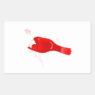 Anglerfish Rectangle Sticker