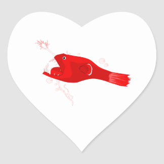 Anglerfish Heart Stickers