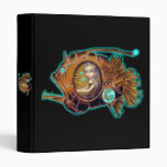 Anglerfish Submarine steampunk Binder