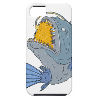 Anglerfish Swooping up Lure Drawing iPhone SE/5/5s Case