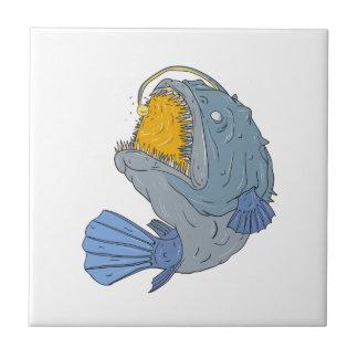 Anglerfish Swooping up Lure Drawing Tile