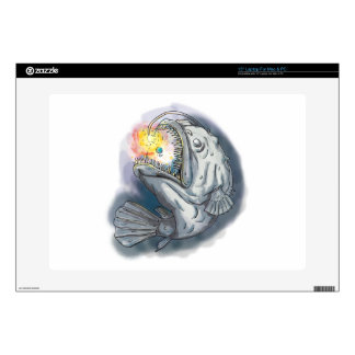 "Anglerfish Swooping up Solar System Lure Watercolo Decals For 15"" Laptops"