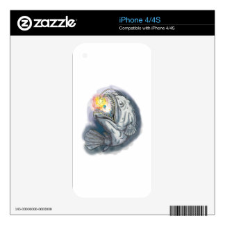 Anglerfish Swooping up Solar System Lure Watercolo iPhone 4S Skins