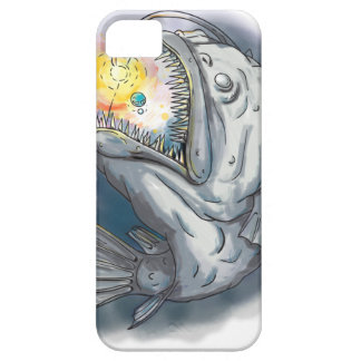 Anglerfish Swooping up Solar System Lure Watercolo iPhone SE/5/5s Case
