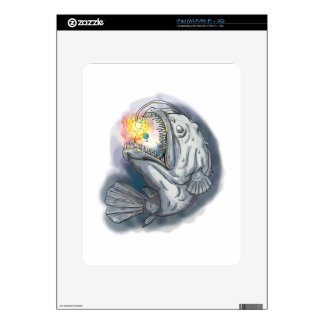 Anglerfish Swooping up Solar System Lure Watercolo Skins For iPad
