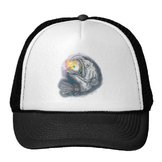 Anglerfish Swooping up Solar System Lure Watercolo Trucker Hat