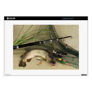 "Anglers Dream Fishing Still Life Decal For 15"" Laptop"