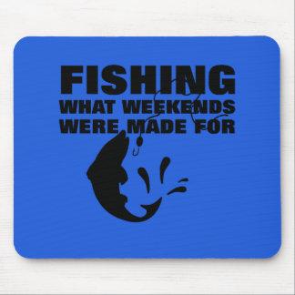 Anglers Fishing Themed Funny Slogan Mouse Pad
