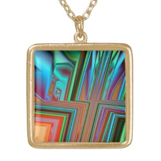 Angles Abstract Necklace necklace