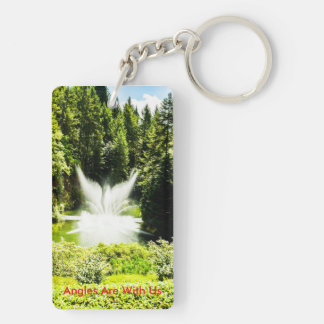 Angles are with us double sided keychain