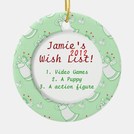 Angles child 39 s wish list christmas ornaments zazzle List of christmas ornaments