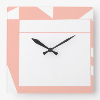 Angles in salmon wall clock