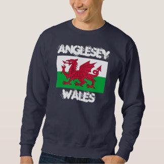 Anglesey, País de Gales con la bandera Galés Sudadera