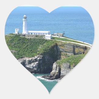 Anglesey Pegatina En Forma De Corazón