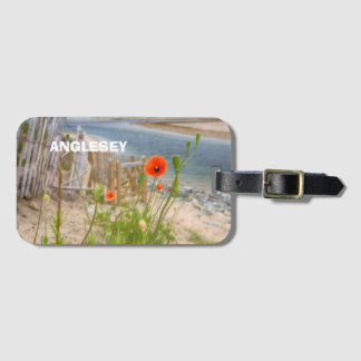 Anglesey Wales Scenic View Beach And Wild Poppies Luggage Tag