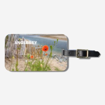 Beach Themed Anglesey Wales Scenic View Beach And Wild Poppies Luggage Tag