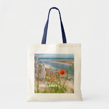 Anglesey Wales Scenic View Beach And Wild Poppies Tote Bag