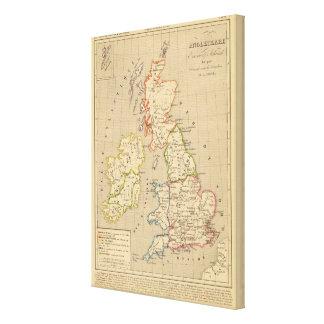 Angleterre, Ecosse & Irlande en 900 Canvas Print