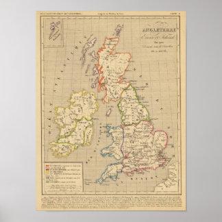 Angleterre, Ecosse & Irlande en 900 Poster