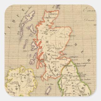 Angleterre, Ecosse & Irlande en 900 Square Sticker
