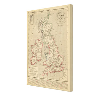 Angleterre, Ecosse, Irlande et Man 1100 a 1280 Stretched Canvas Print
