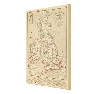Angleterre, Ecosse, Irlande et Man 1100 a 1280 Canvas Print