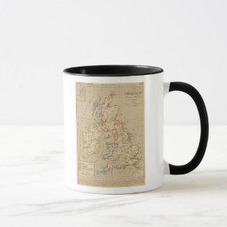 Angleterre, Ecosse, Irlande et Man en 1100 Mug