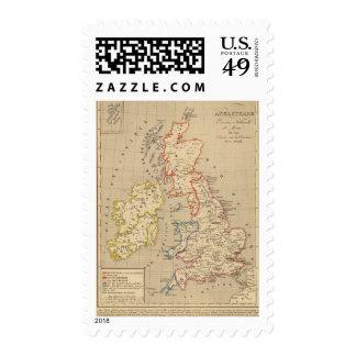 Angleterre, Ecosse, Irlande et Man en 1100 Postage Stamp