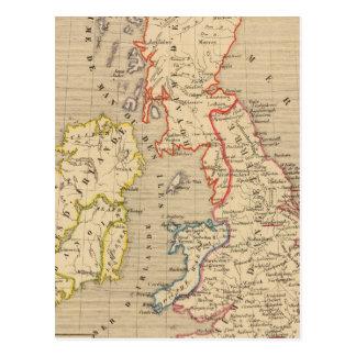 Angleterre, Ecosse, Irlande et Man en 1100 Post Card