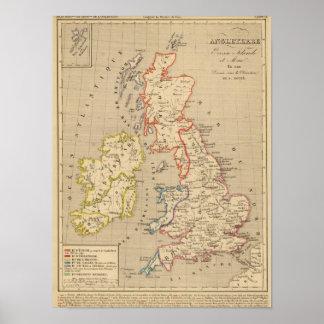 Angleterre, Ecosse, Irlande et Man en 1100 Posters