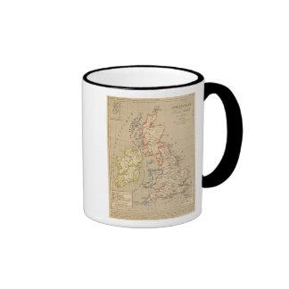 Angleterre, Ecosse, Irlande et Man en 1100 Ringer Mug