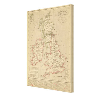 Angleterre, Irelande & Ecosse 1281 a 1400 Canvas Print